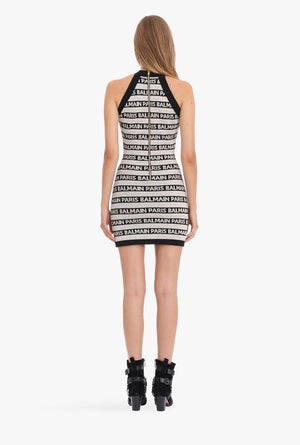 B Logo Halter Dress