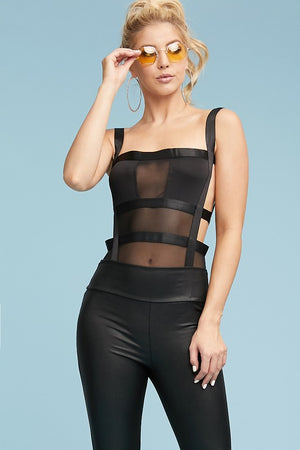 Black Ribbon Bodysuit