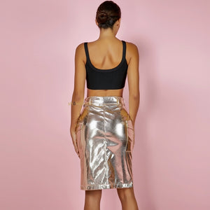 Kassiana Metallic Skirt