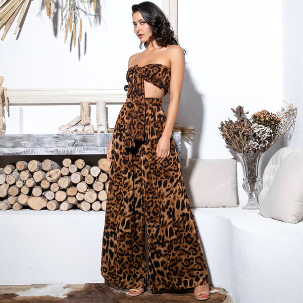 Leopard Pants Set