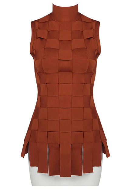 Cross Hatch Bandage Dress