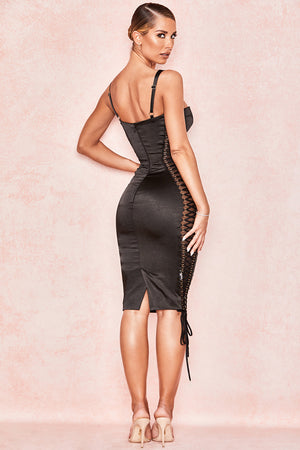Angelina Lace Up Corset Dress
