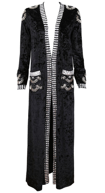 Kim Embellished Velvet Coat