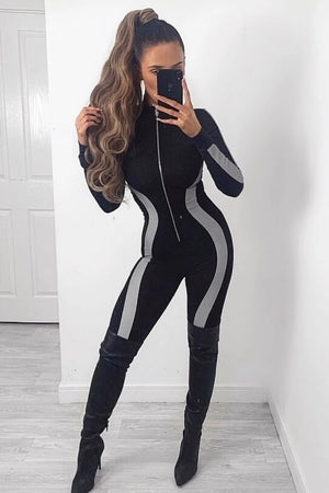 Reflective Black Jumpsuit