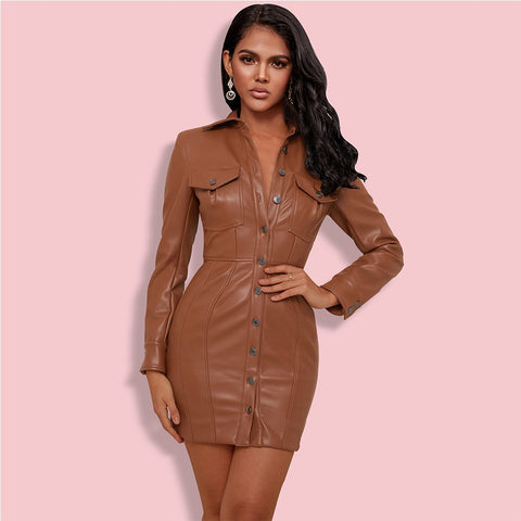 Kaviana Vegan Leather Dress