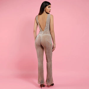 Fallon Lurex Jumpsuit