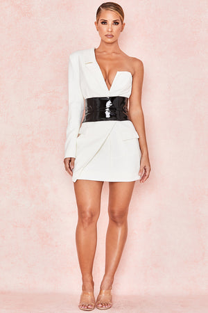 Febe White Blazer Dress