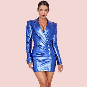 Federica Vegan Leather Dress