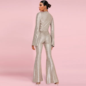Catrin Gold Jumpsuit