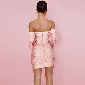 Blush Ruched Dress