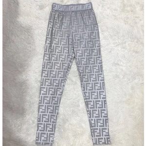 F Reflective Silver Leggings