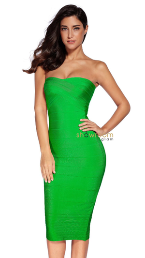 Bandeau Midi Bandage Dress