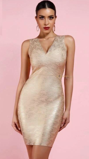 Starlet Foil Bandage Dress