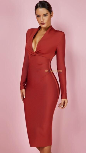 Francesca Draped Bandage Dress