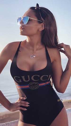 Classic Printed One Piece Black