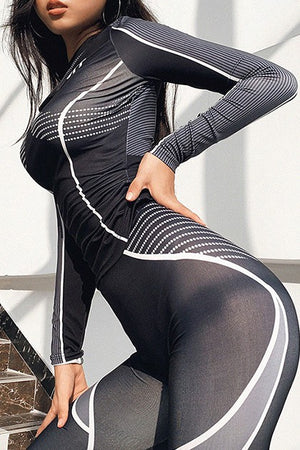 Off Black Long Sleeve Pants Set