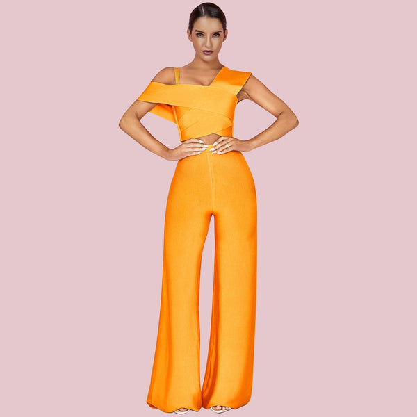 Orange Bandage Pants Set