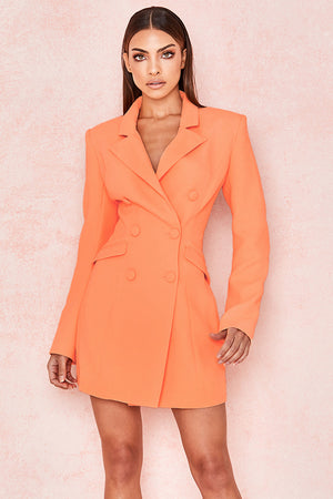Raven Crepe Blazer Dress