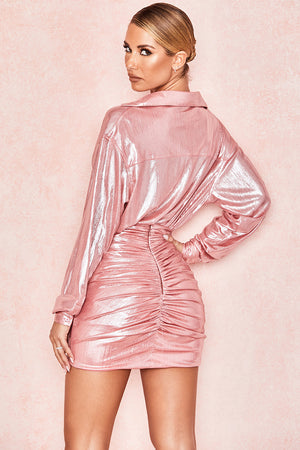 Roxanne Metallic Shirt Dress