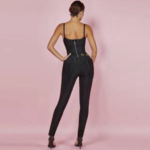 Side Tie Bandage Jumpsuit