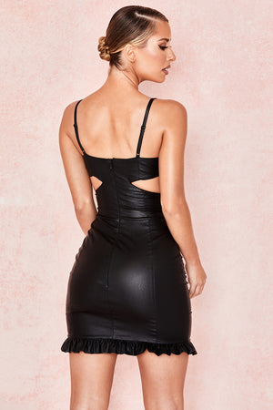 Thalia Vegan Leather Dress