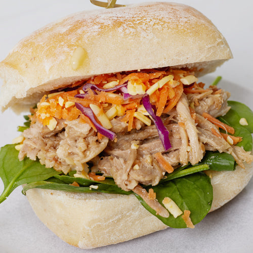 Ciabatta Baps - Asian Pulled Pork, Slaw & Salad