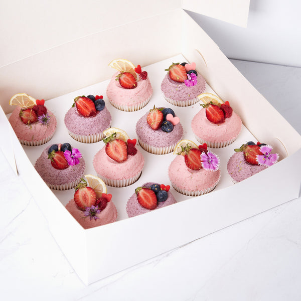 Valentines Berry Cupcake Gift Pack - 12