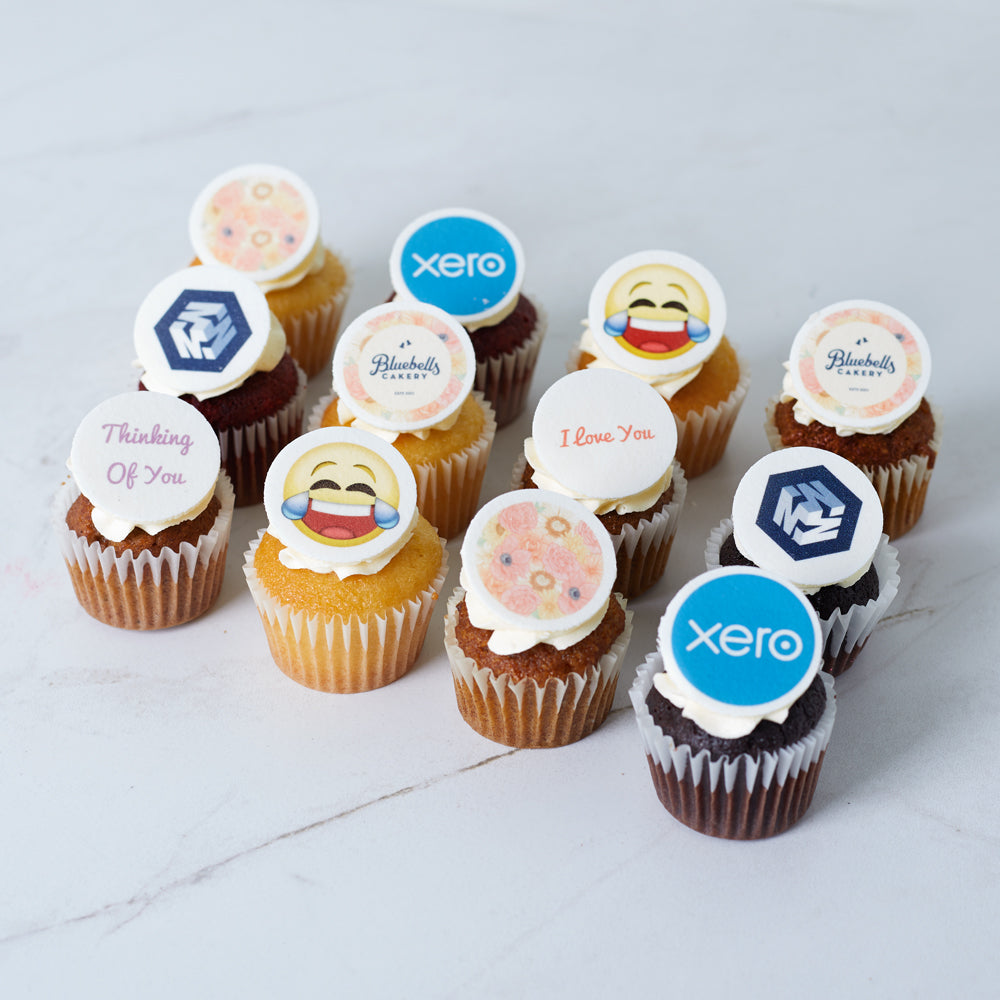 Edible Image Mini Cupcakes