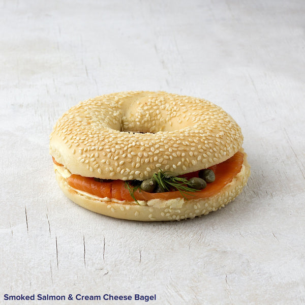 Smoked salmon & cream cheese bagel