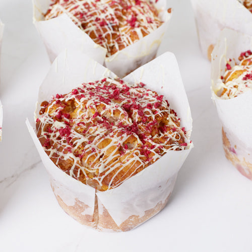 Regular Muffin - Raspberry & White Chocolate x 6