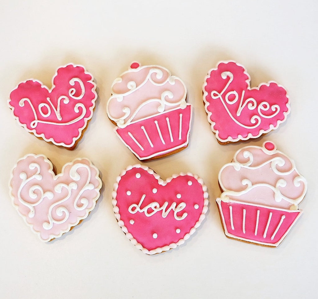 Valentines Cookie Gift Box   4 Pack