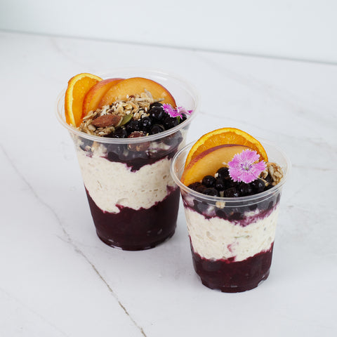 Bircher Muesli with berry compote