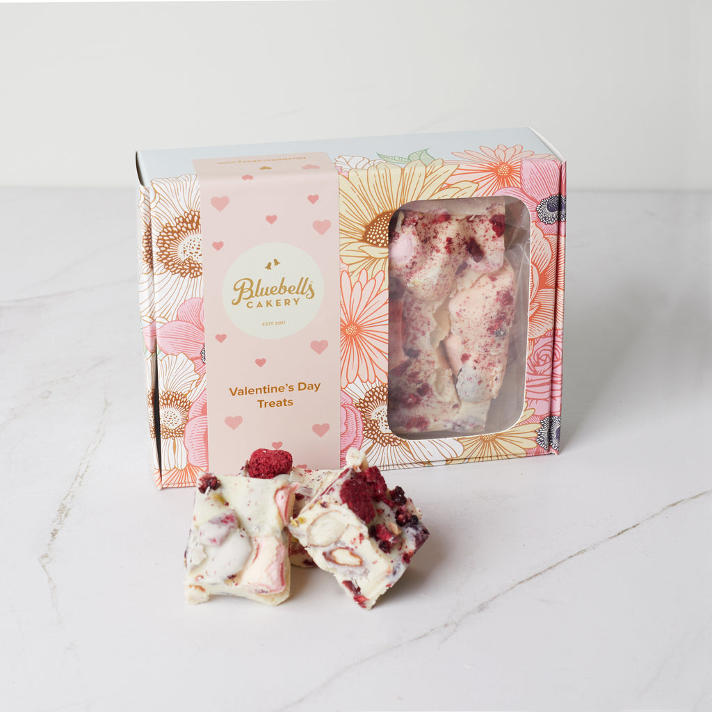 Valentines Gift Box - White Chocolate Rocky Road