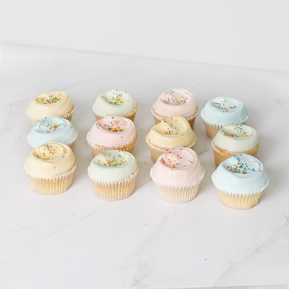 Assorted Vanilla Cupcakes - 12 Pack - Bluebells Cakery