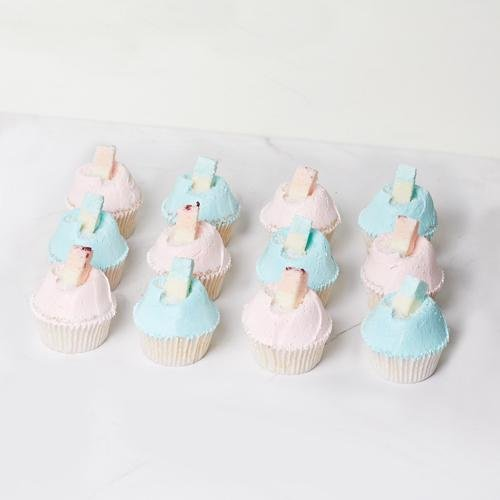 Baby Themed Vanilla Cupcakes - 12 Pack - Bluebells Cakery