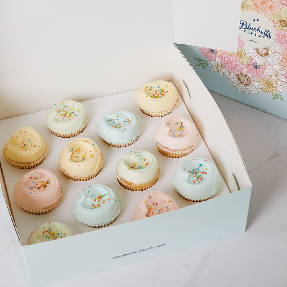 Assorted Vanilla Cupcakes - 12 Pack