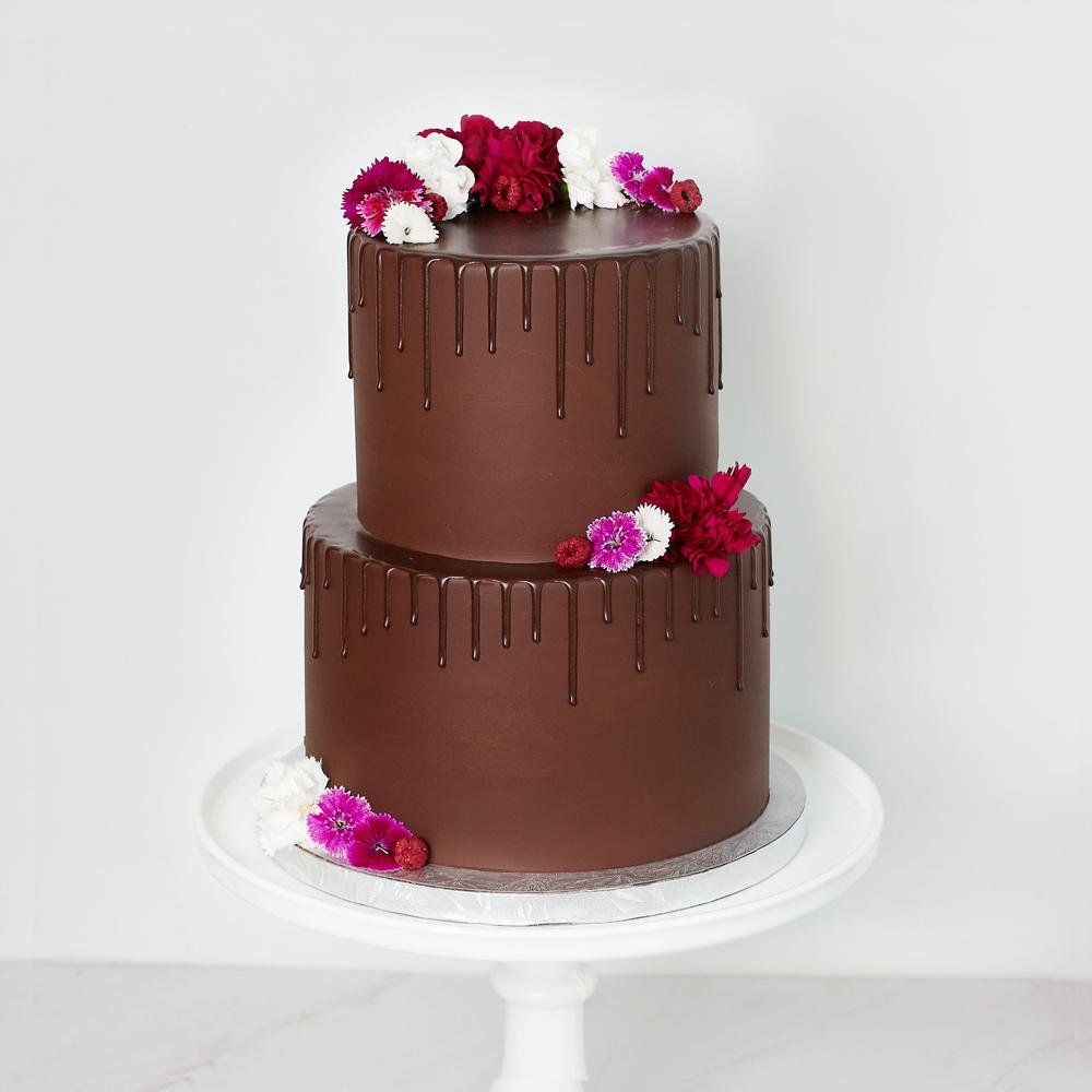 Decadent Chocolate Tiered Cake - Bluebells Cakery