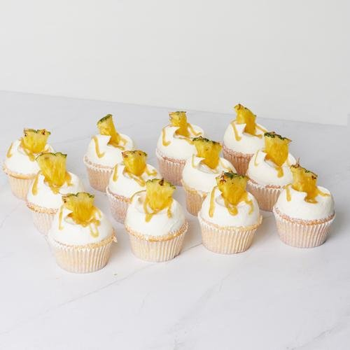 Dole Pineapple Cupcake - 12 Pack - Bluebells Cakery