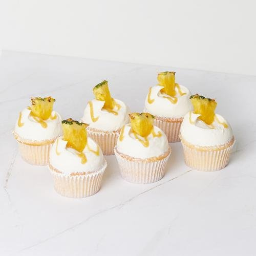 Dole Pineapple Cupcake - 6 Pack - Bluebells Cakery