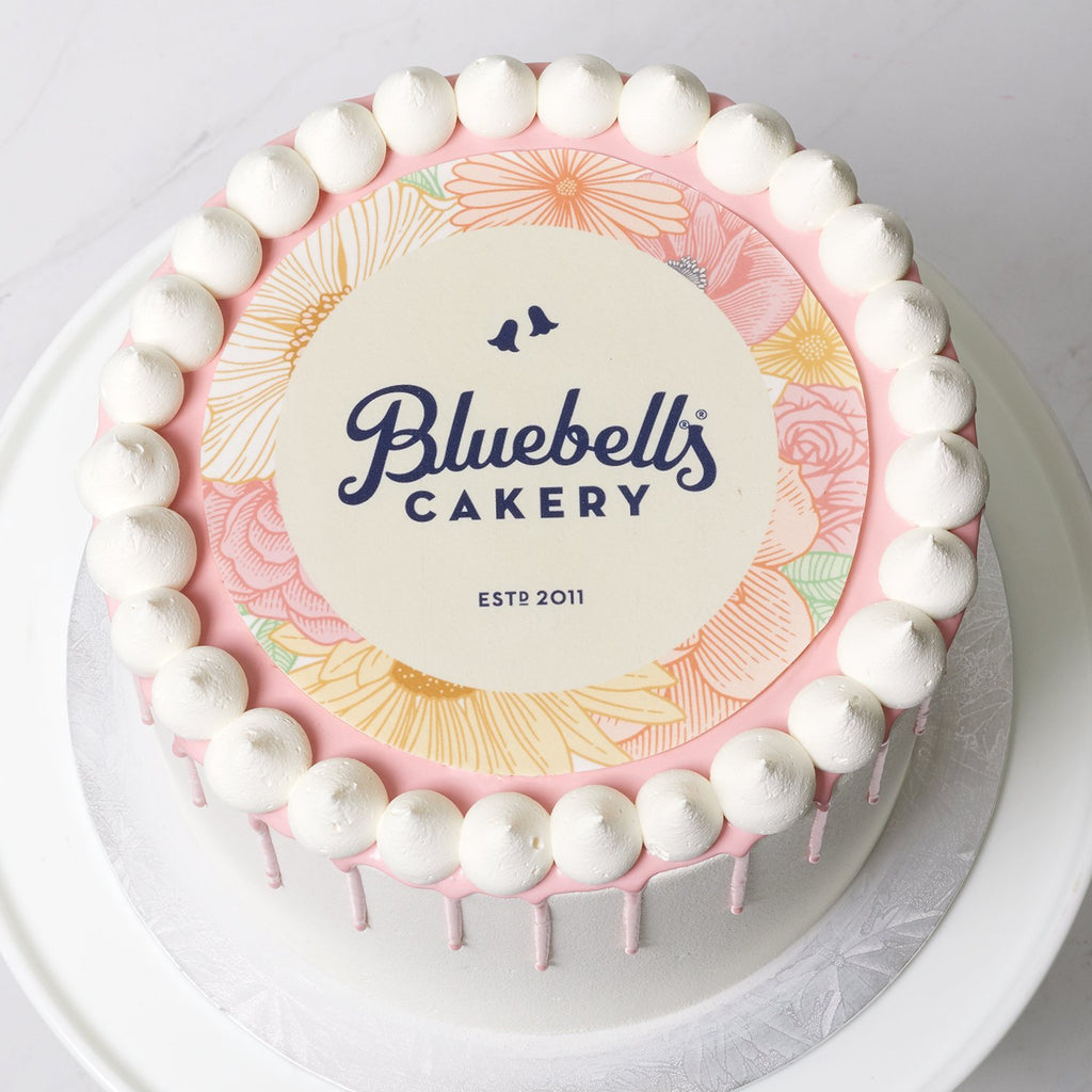 Edible Image Drizzle Cake - Bluebells Cakery