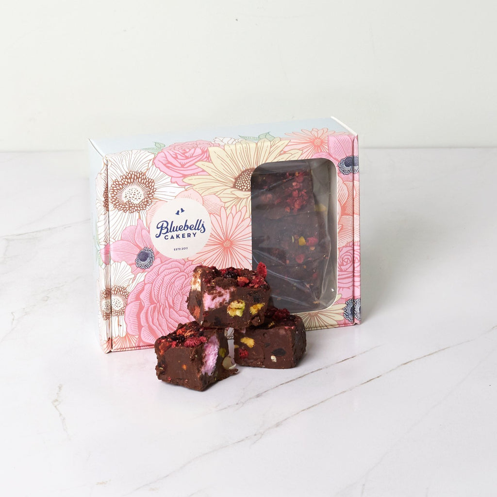 Gift Box - Dark Chocolate Rocky Road - Bluebells Cakery