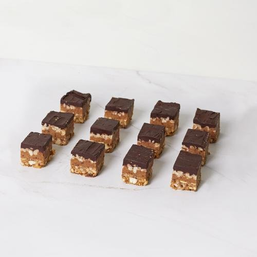 Mini Slice - Raw Caramel Snickers (VGN/DF/GF) x 12 - Bluebells Cakery