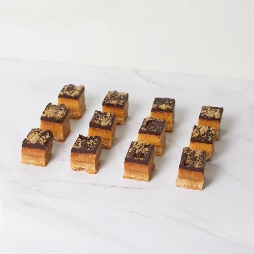 Mini Slice - Salted Caramel x 12 - Bluebells Cakery