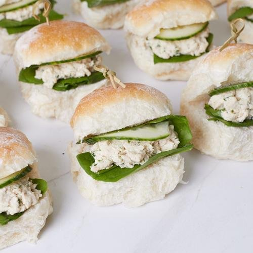 Mini Sliders - Herbed Chicken & Cucumber (df) x 12 - Bluebells Cakery