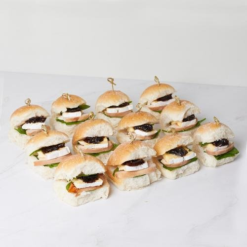 Mini Sliders - Smoked Chicken, Brie & Cranberry x 12 - Bluebells Cakery