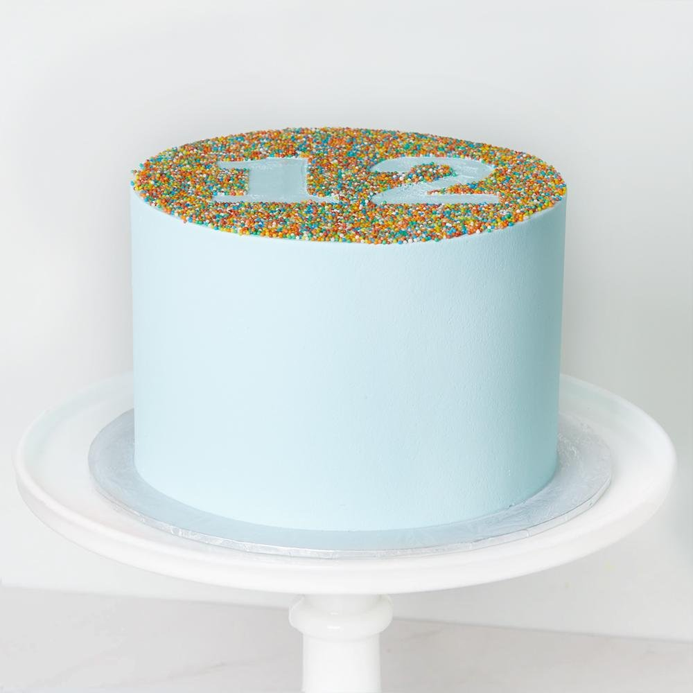 Number Sprinkle Cake - Bluebells Cakery