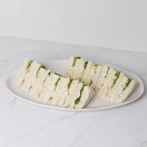 Tea Sandwich - Free Range Herbed Chicken & cucumber (df) x 12 - Bluebells Cakery