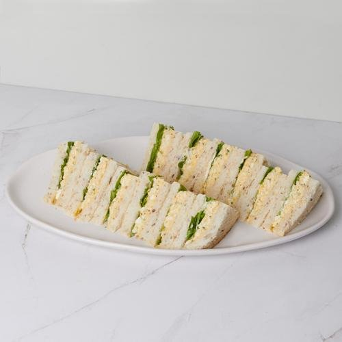 Tea Sandwich - Free Ranged Herbed Egg & Mayonnaise x 12 (df/vege) - Bluebells Cakery