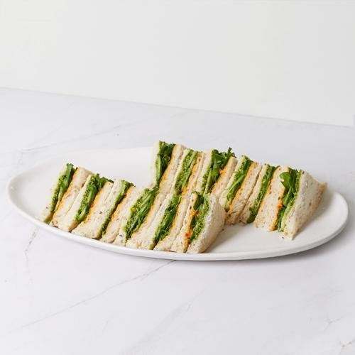 Tea Sandwich - Hummus, Cucumber & Vegan Pesto (vgn/df/vege) x 12 - Bluebells Cakery