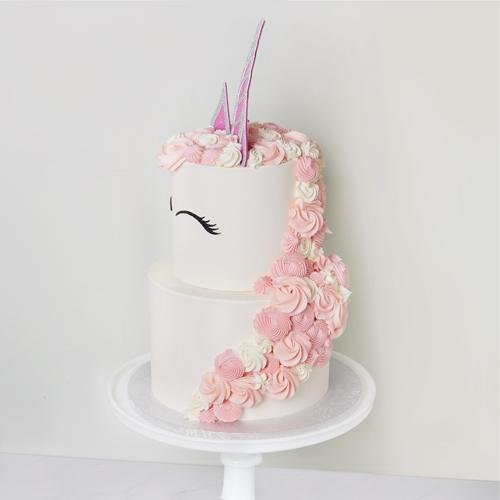 Unicorn Tiered Cake - Bluebells Cakery